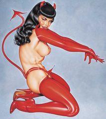 Красный комплект  Дьяволенок  из коллекции Оливия