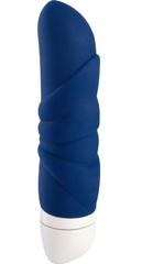 Синий мини-вибратор Jam - 12,7 см.