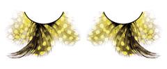 Жёлтые ресницы-перья