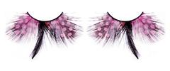 Розово-черные ресницы-перья