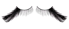 Черные асимметричные ресницы-перья