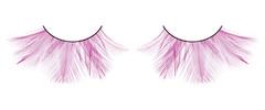 Розовые ресницы-перья