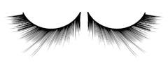 Черные асимметричные ресницы Deluxe