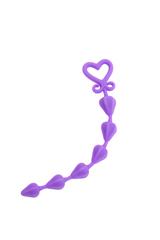 Фиолетовая анальная цепочка My Toy - 24 см.