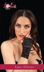Кружевные перчатки с открытыми пальчиками