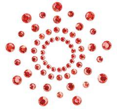 Красные наклейки на грудь Mimi Bijoux