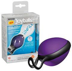 Фиолетовый вагинальный шарик со смещенным центром тяжести Joyballs secret