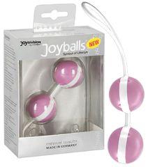Нежно-розовые вагинальные шарики Joyballs Bicolored