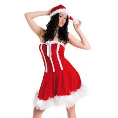 Новогоднее платье и шапочка
