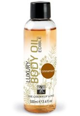 Съедобное массажное масло с ароматом корицы - 100 мл.