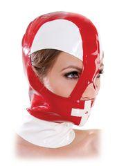 Красно-белый шлем на молнии