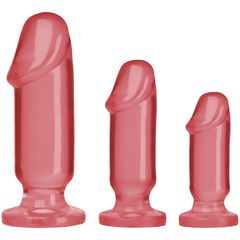 Набор розовых анальных фаллоимитаторов Crystal Jellies Anal Starter Kit