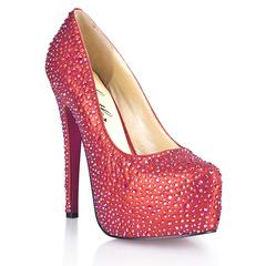 Красные туфли в кристаллах Provocative