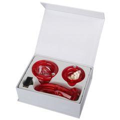 Мужской набор верности красного цвета с насадками большого размера