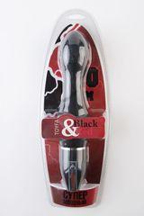 Чёрный анальный вибромассажёр из силикона - 27 см.