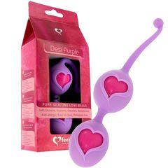 Фиолетовые вагинальные шарики Desi Love Balls