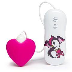Розовый клиторальный вибростимулятор-сердечко SILICONE PINK HEART CLITORAL VIBRATOR