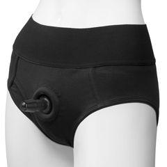 Трусики-брифы с плугом Vac-U-Lock Panty Harness with Plug Briefs - S/M