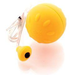 Желтый виброшарик с выносным пультом-кнопкой