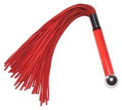 Красная замшевая плеть Sensua